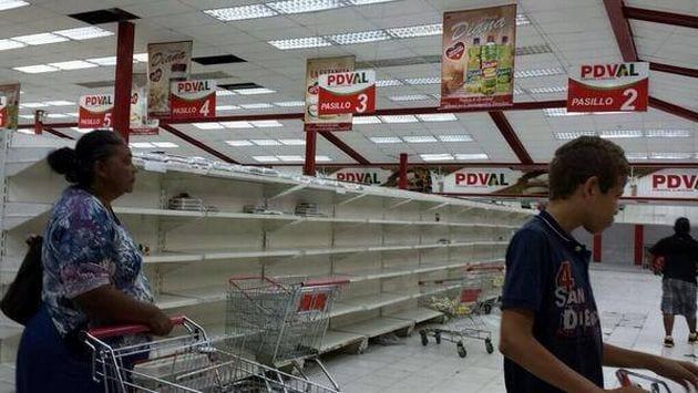 les supermachés sont vides au Venezuela