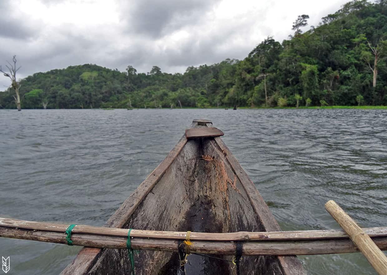 traverser le lac Manguao à Taytay - Philippines