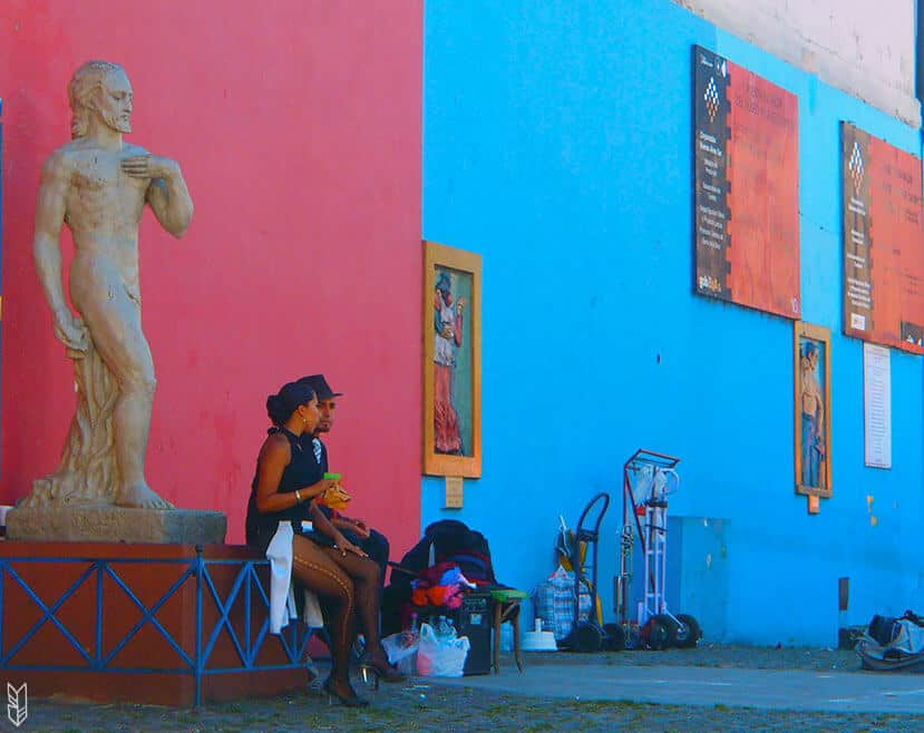 dans les rues de la Boca
