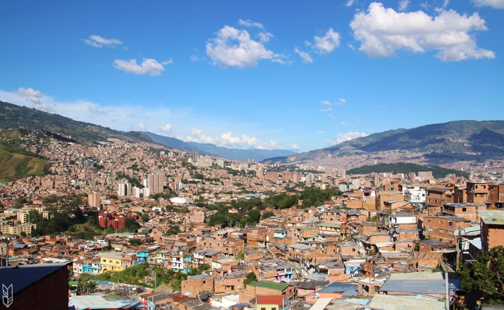 la vue de Medellín depuis la Comuna Trece